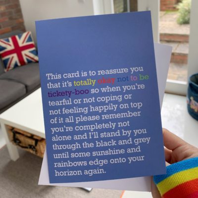 Life is full of ups and downs. Send a reminder that it's okay not to be okay with this supportive card for friends and family.