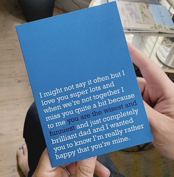 Let your Dad know you miss him with this Father's Day Card for your wise and funny Dad.